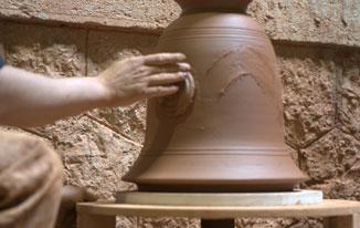 Vase d'Anduze fait à la main